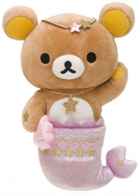 Rilakkuma plush bear zodiac sign Pisces San-X mermaid