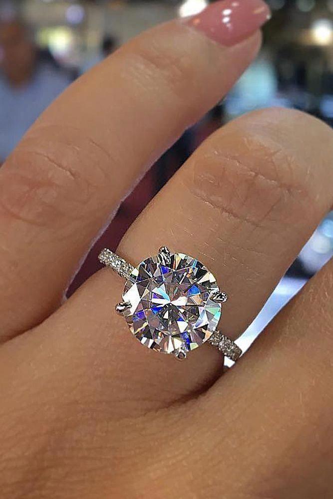 Peridot Engagement Ring White Gold Engagement Ring Wedding Unique