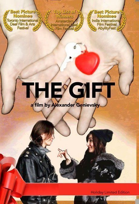 https://youtu.be/mXYV31K_jmY The Gift is a story of kindness, tragicomedy communication barriers and love.  It centers around a couple, Iron (a hearing musician) and Tara (a deaf dancer).  Iron rescues Tara from a train accident and falls in love with her.  But it is a star-crossed love because Tara expects Iron to understand her by learning to sign and this is something he finds difficult...