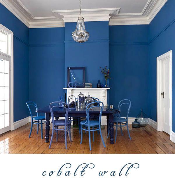 One Room Two Looks Cobalt Blue Dining Room Cobalt