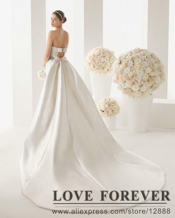 marfil de novia sin tirantes de largo satén tren vestidos hechos en china-Vestidos de novia -Identificación del producto:300000671701-spanish.alibaba.com