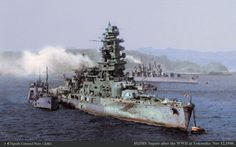 "IJN Battleship "" Nagato "" in 1946 after the Japanese Surrender."