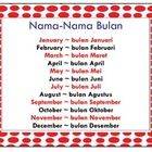Two simple Months of the Year charts and individual months charts/flash cards in bahasa Indonesia (Indonesian) for personal or classroom use. Not ...