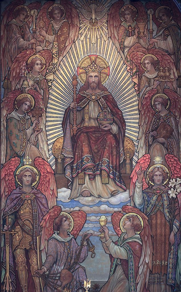 """Christ the King in Glorious Artwork-In 1925, in an encyclical entitled Quas Primas, Pope Pius XI instituted the Solemnity of Christ the King on the last Sunday of the liturgical year, as """"the crowning glory upon the mysteries of the …"""