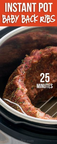 SUPER EASY Instant Pot Baby Back Pork Ribs! These things are falling off the bone in just 25 minutes!