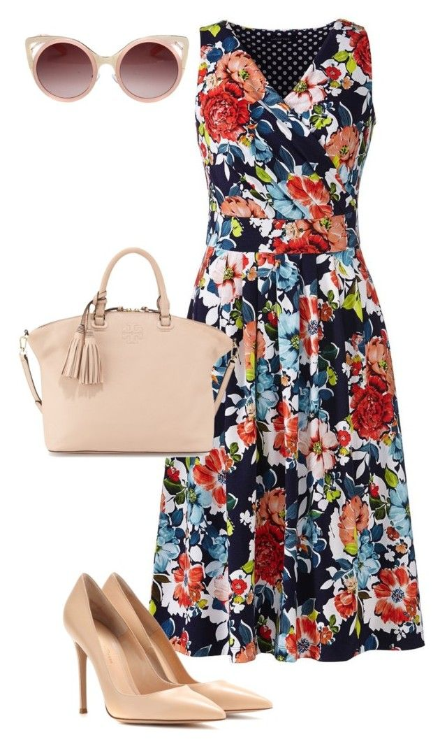 """""""Untitled #233"""" by styledbyafrica on Polyvore featuring Lands' End, Gianvito Rossi, Tory Burch and WithChic"""