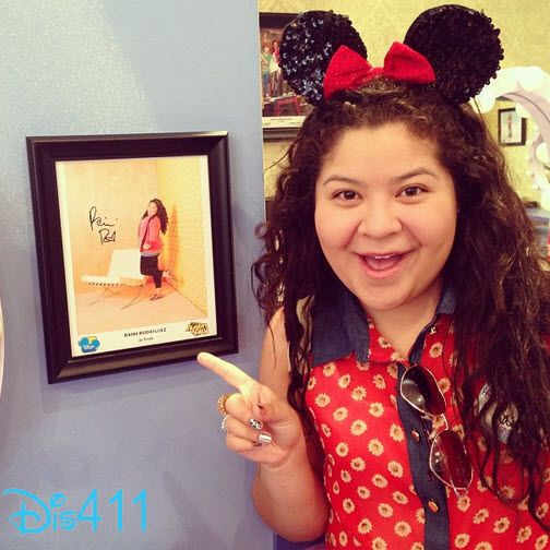 Dis411 Raini Rodriguez Spotted A Photo Of Herself At Disneyland Resort June 22, 2013