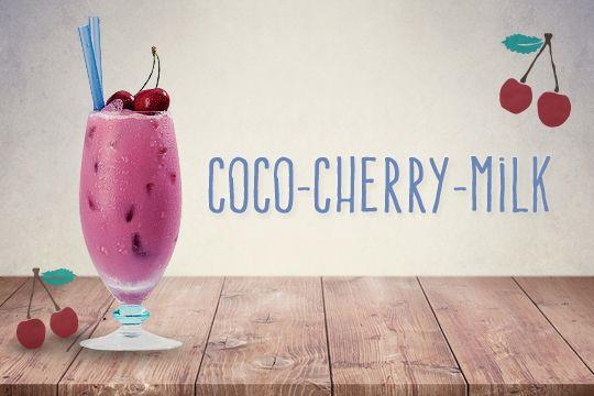 Cocktails für Kinder: Coco-Cherry-Milk