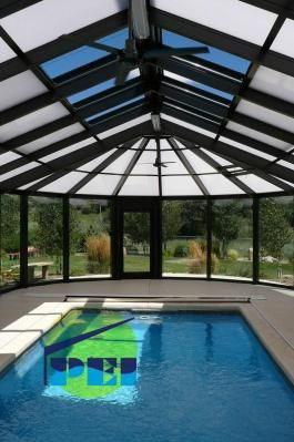 4 season pool enclosures with high snow load capability.  pool enclosures INC.