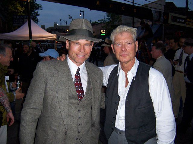 """Stephen Lang and Conrad Graff after the filming of """"Public Enemies""""."""