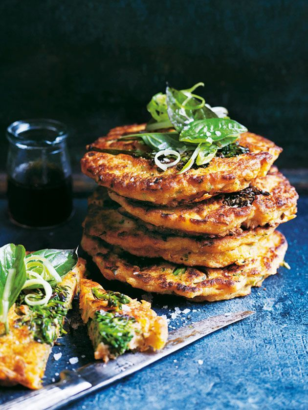Broccolini Basil And Kimchi Pancakes | Donna Hay