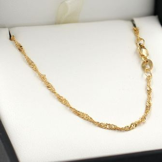 50cm Yellow Gold Singapore Rope Chain Necklace - GN-SN30