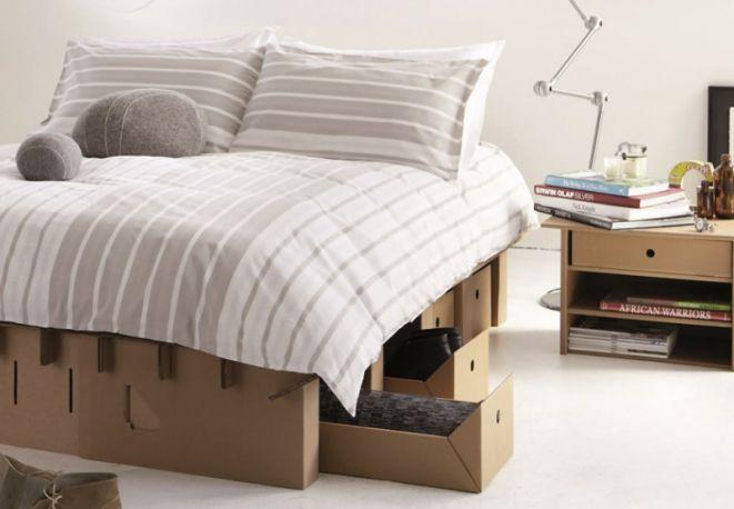 KARTONGROUP, il letto in cartone per gli ospiti, facile da smontare e riporre
