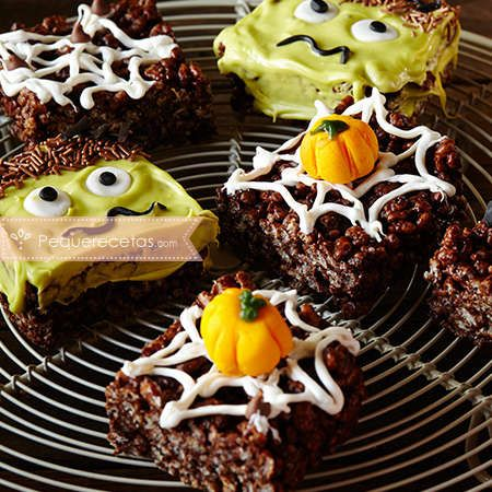 Recetas fáciles de Halloween: brownies