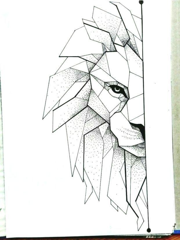Leon Geometrico Cakerecipespins Club Leon Geometrico Cakerecipespins Club Leon Geometrico Geometrico Dibujos De Animales
