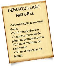 Démaquillant naturel aux huiles essentielles