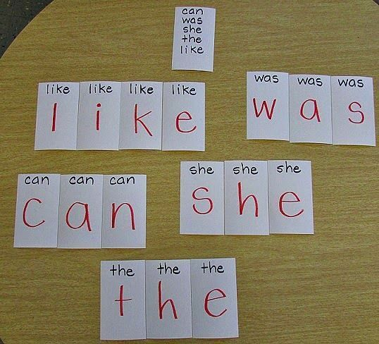 What a unique way to practice sight words!