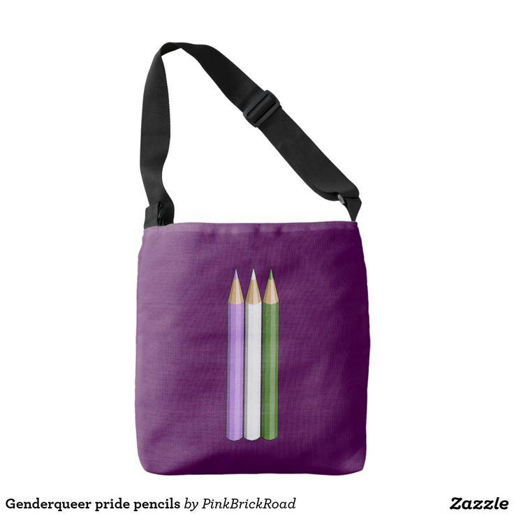 Genderqueer pride pencils tote bag