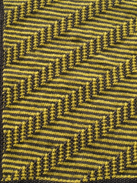 Baby blanket knit - love this stitch pattern!