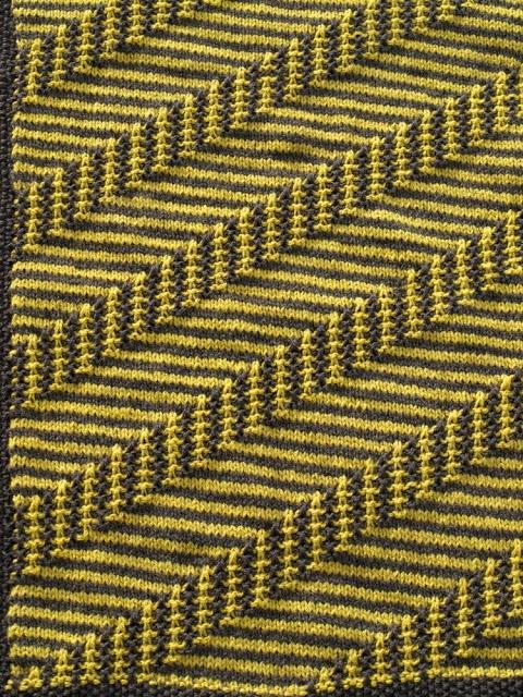 Baby blanket knit