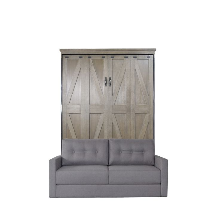 Best Queen Steeplechase Sofa Murphy Bed In Dove Gray Finish And 400 x 300