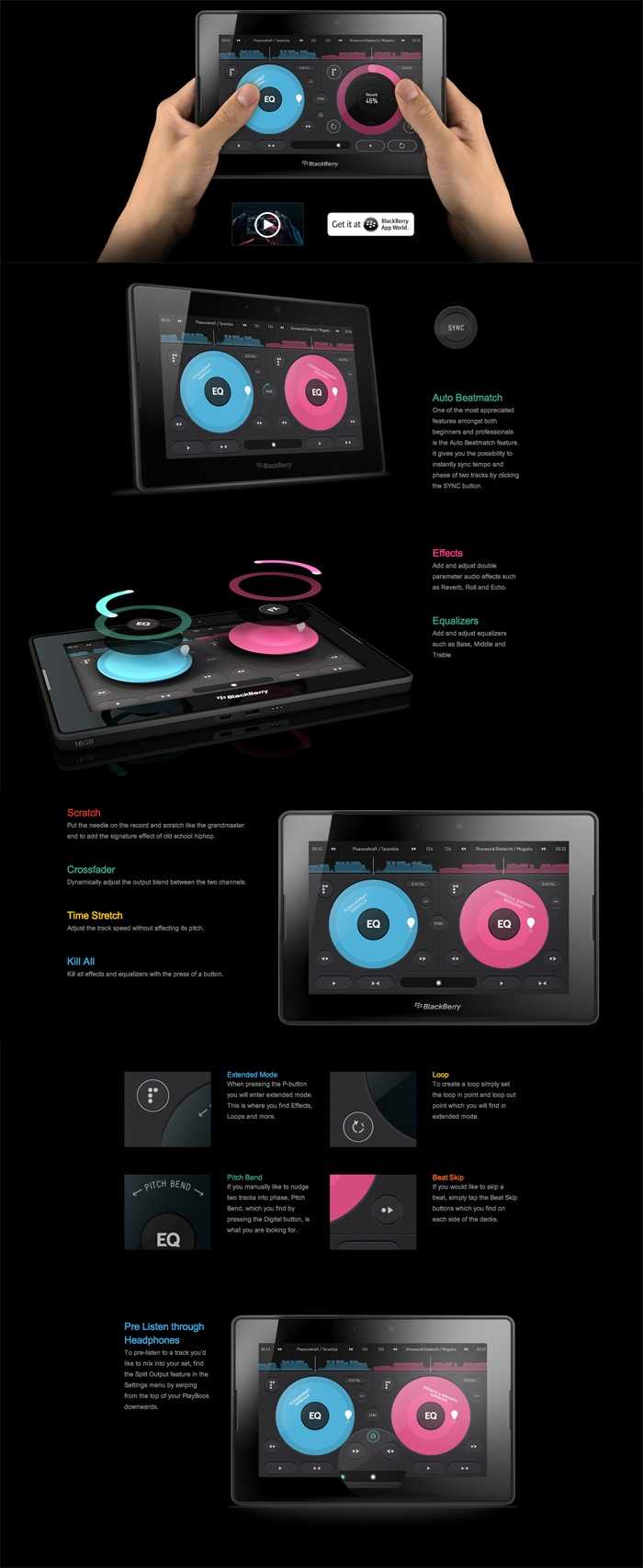 Pacemaker - Mix, scratch and loop on the Pacemaker® #app #ui #digital #mobile