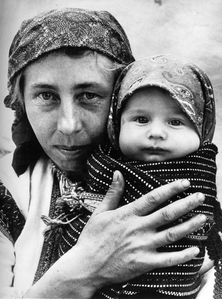 Taken by Korniss Péter - Hungarian peasant women with child