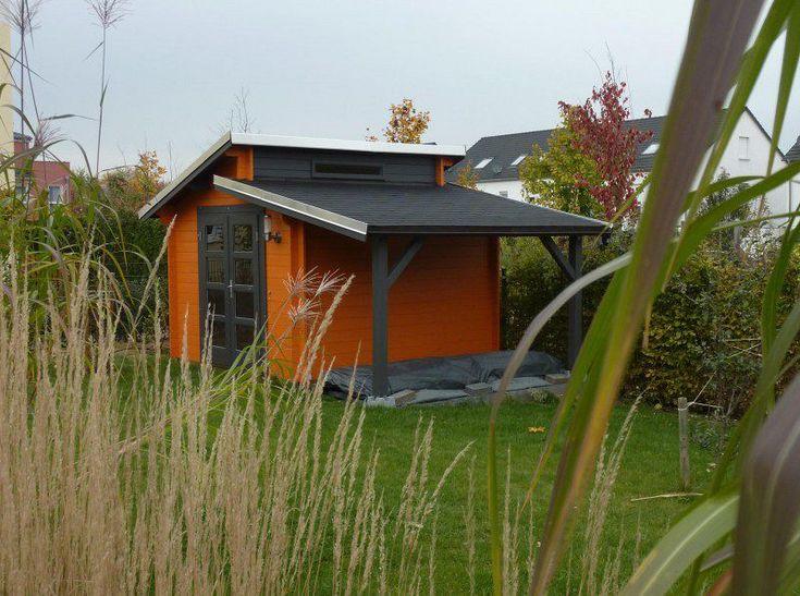 Das Modell Aktiva-40 mit Schleppdach bietet Ihnen über den umbauten Raum hinaus eine weitere, trockene Stellfläche unter dem Dach.