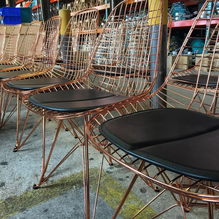 Modernica Case Study Copper Wire Chairs | Case Study® Wire Chairs |  Pinterest | Wire Chair, Daybed Couch And Eames Chairs