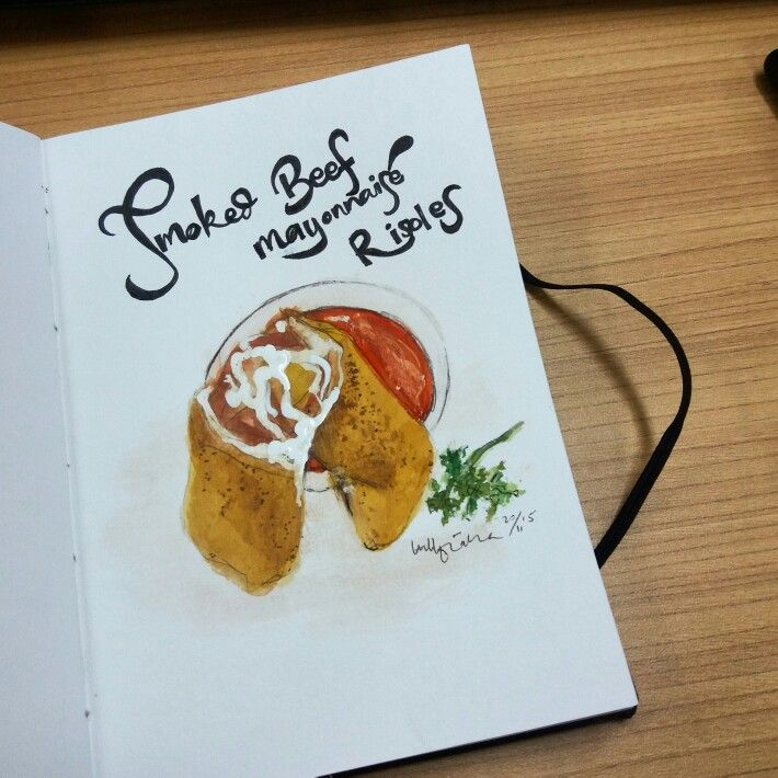 RISOLES - WATERCOLOR ON CANSON SKETCHBOOK BY LUTHFIAHRA