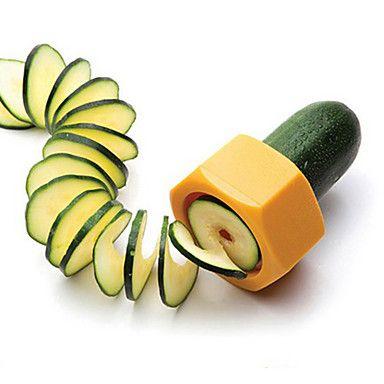 Creative+Pencil+Sharpener+Spiral+Slicer+Cucumber+Food+Fruit+and+Vegetable+Peeler+Cutplane+Easy+for+Slicer+–+USD+$+2.99