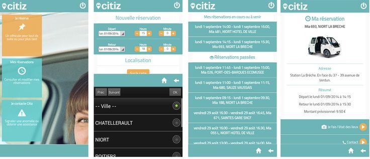 Réalisation d'une application mobile pour le réseau Citiz.