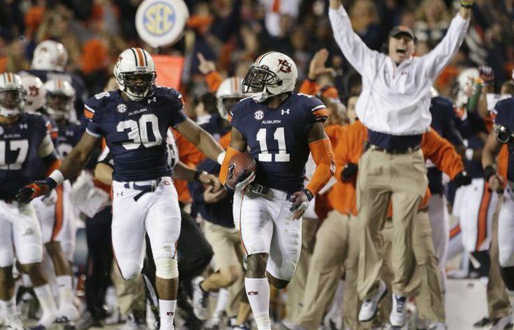 Wait a second! Auburn stuns Alabama on return of missed field goal | The Columbian
