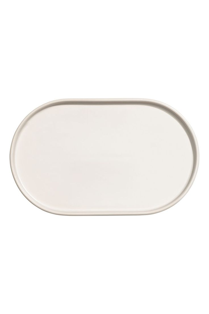 Stoneware serving tray - White - Home All | H&M GB 1