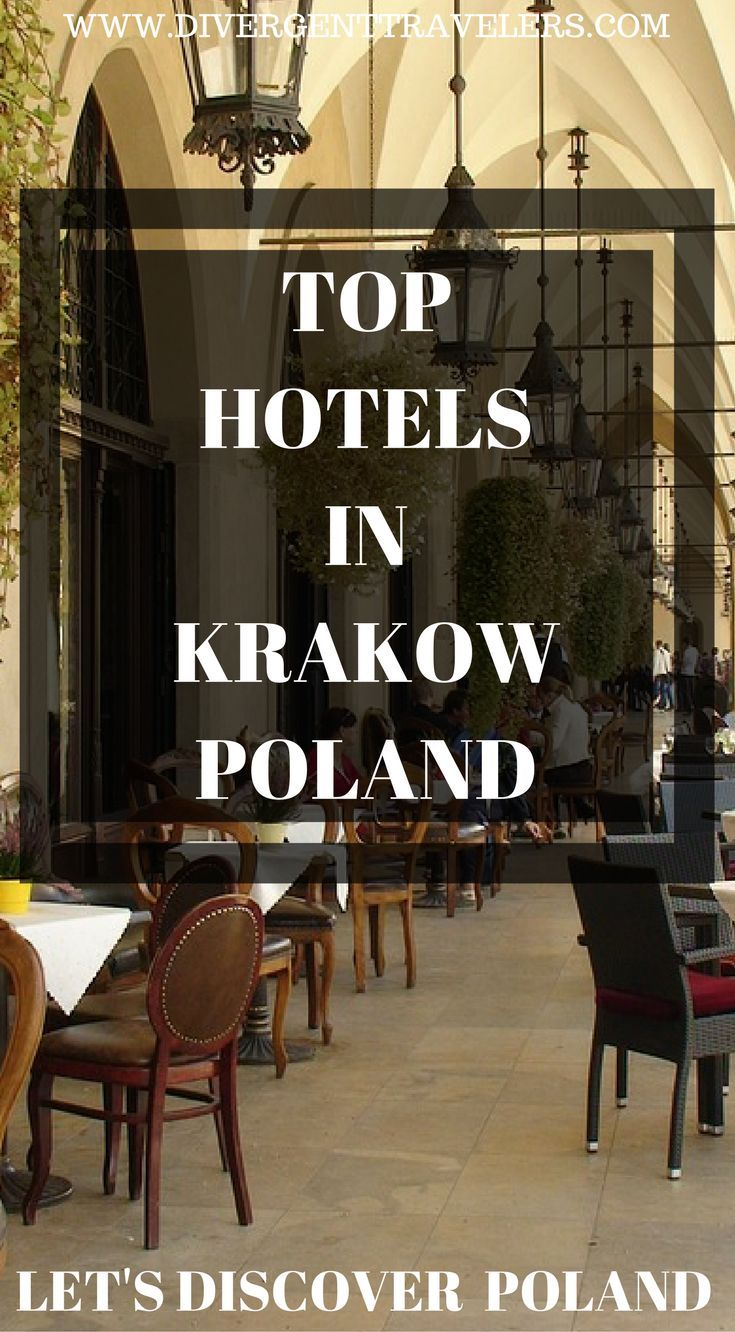 Top hotels in Krakow, Poland.