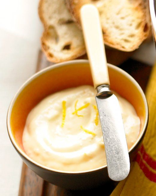Martha Stewart's lemon garlic aioli  Made tonight with a steamed artichoke