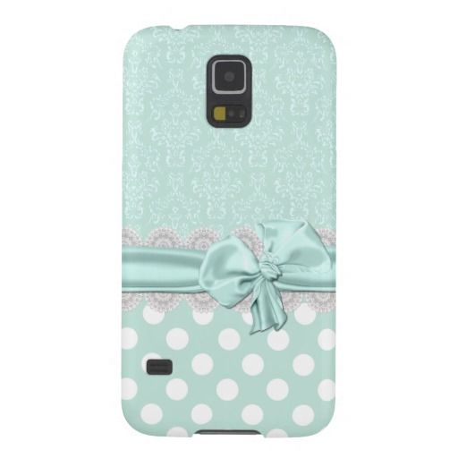 Mint Green Damask Samsung Galaxy S5 Phone Case #s5