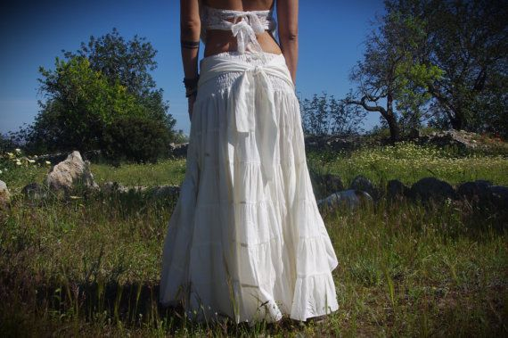 Gypsy lange rok met Flamenco rok Fairy rok rok van de door Kalbelia