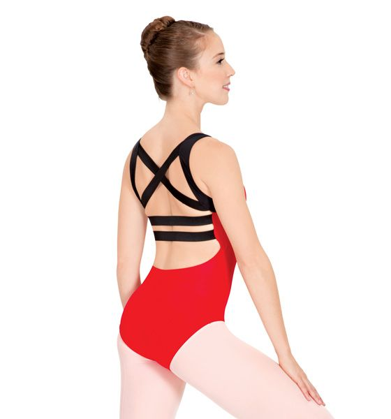 We all love a good basic black leotard, but sometimes, your leotard should be fun & fierce! Check out our Natalie Adult Elastic Back Tank Leotard- it's one of our favorites! #leotard #red
