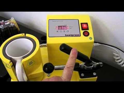 How to sublimate a mug using sublimation ink and a heat Mug press - YouTube