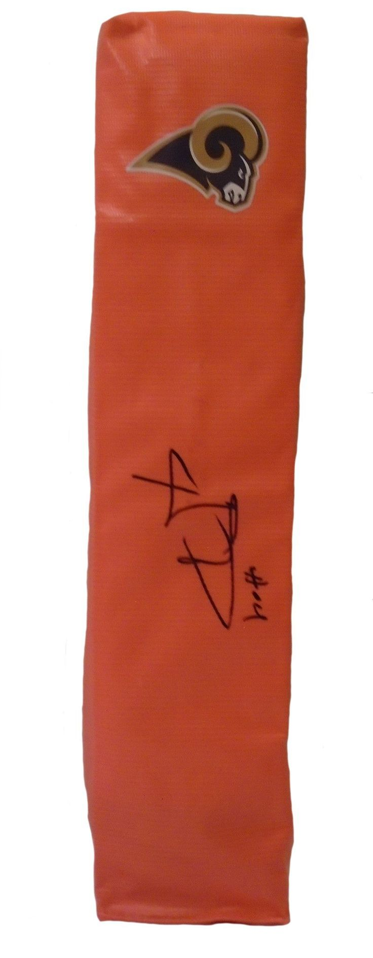 Aaron Donald signed Los Angeles Rams full size football touchdown end zone pylon w/ proof photo.  Proof photo of Aaron signing will be included with your purchase along with a COA issued from Southwestconnection-Memorabilia, guaranteeing the item to pass authentication services from PSA/DNA or JSA. Free USPS shipping. www.AutographedwithProof.com is your one stop for autographed collectibles from LA sports teams. Check back with us often, as we are always obtaining new items.