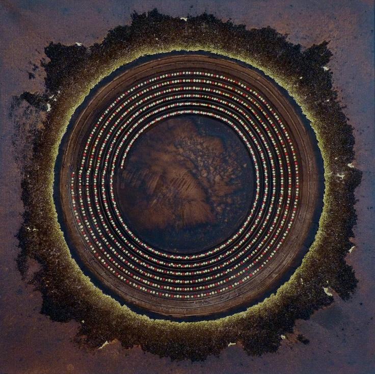 "Saatchi Online Artist: Mark Lockwood; Acrylic, 2012, Painting ""SOLAR"""