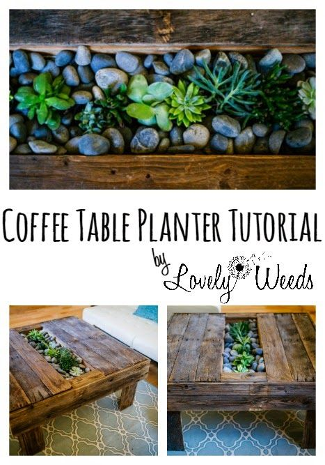 Lovely Weeds DIY Planter Coffee Table