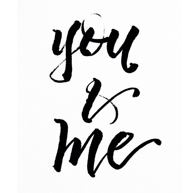 you + me // handlettering