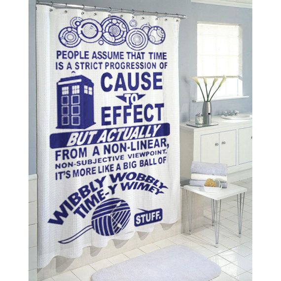 Dr Who Tardis Shower Curtain Amazing Shower Curtain By JasJuz, $29.25