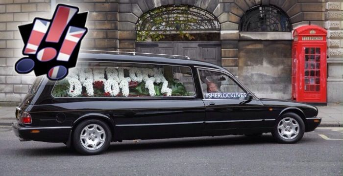 'Sherlock' announces S03 UK air date with hearse driven around London  Read more at:  http://www.anenglishmaninsandiego.com/newsfromtheverse/tv/sherlock-announces-s03-uk-air-date-with-hearse-driven-around-london