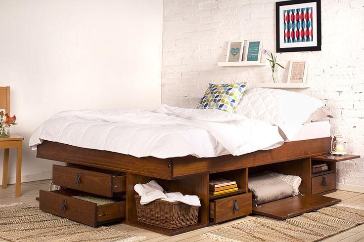 Aproveite o espaço embaixo da cama
