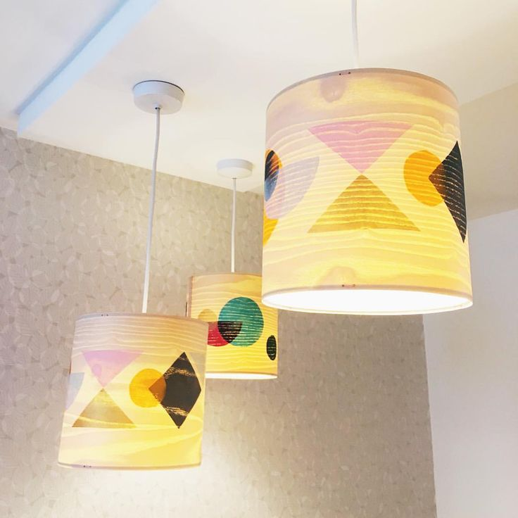 Wooden printed lampshades by jane blease available at radiance