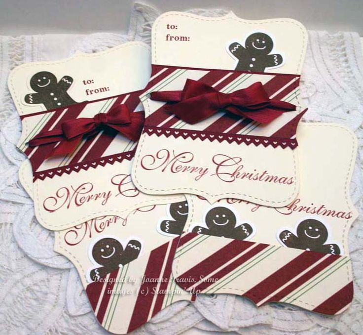 Stampin' Up! Christmas   by Joann Travis at Sleepy in Seattle: Top Note Gingerbread Tags