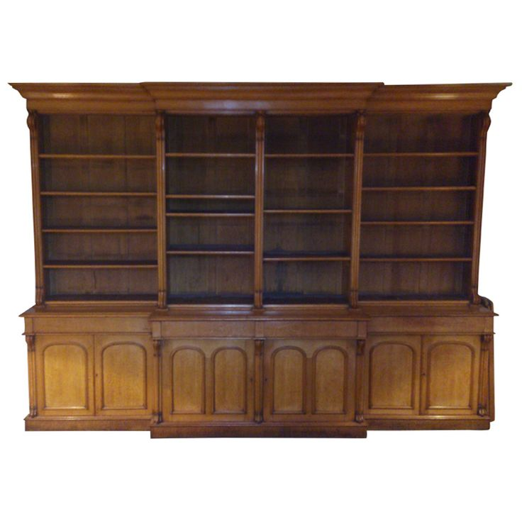 Massive Victorian Bookcase | From a unique collection of antique and modern bookcases at http://www.1stdibs.com/furniture/storage-case-pieces/bookcases/